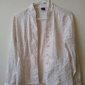 Vintage Brenntano Italy floral blouse